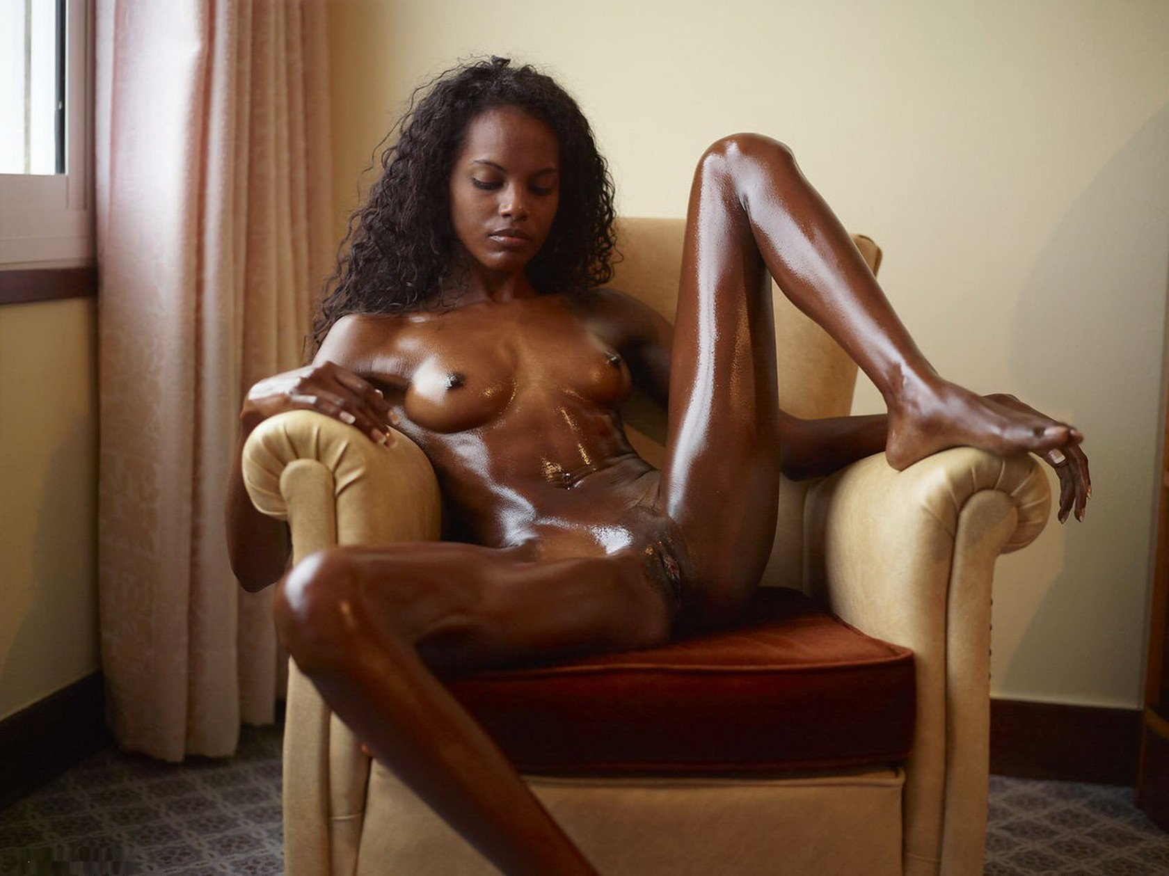 Cute nude black slave girl
