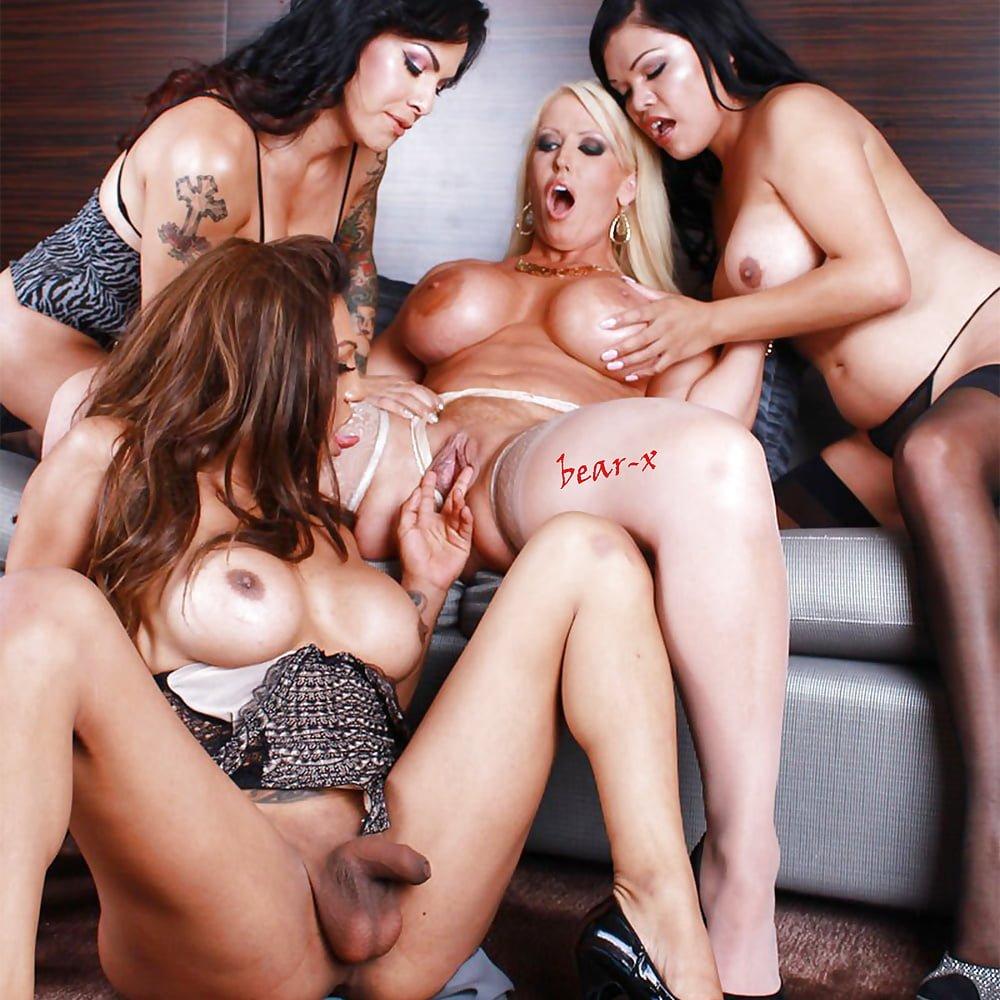 Lesbian shemale orgy