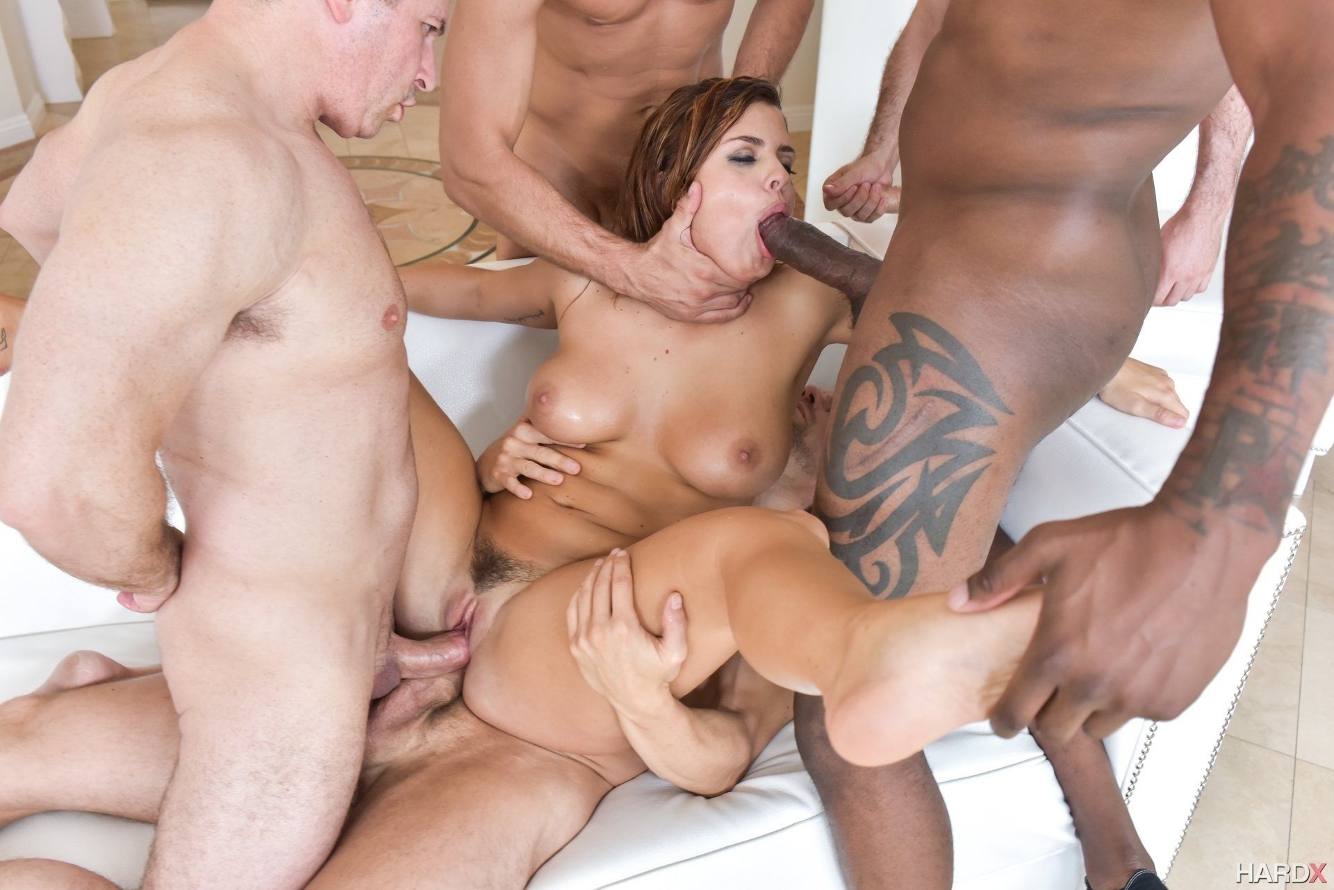Tourist wife begs to be bred creampie gangbang