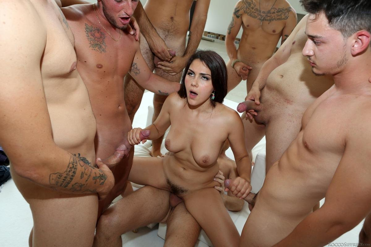 Emo girls first rough fuck orgy by real gangbangs