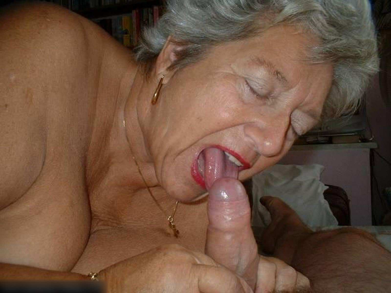 Old Asian Grandma Giving Blowjob