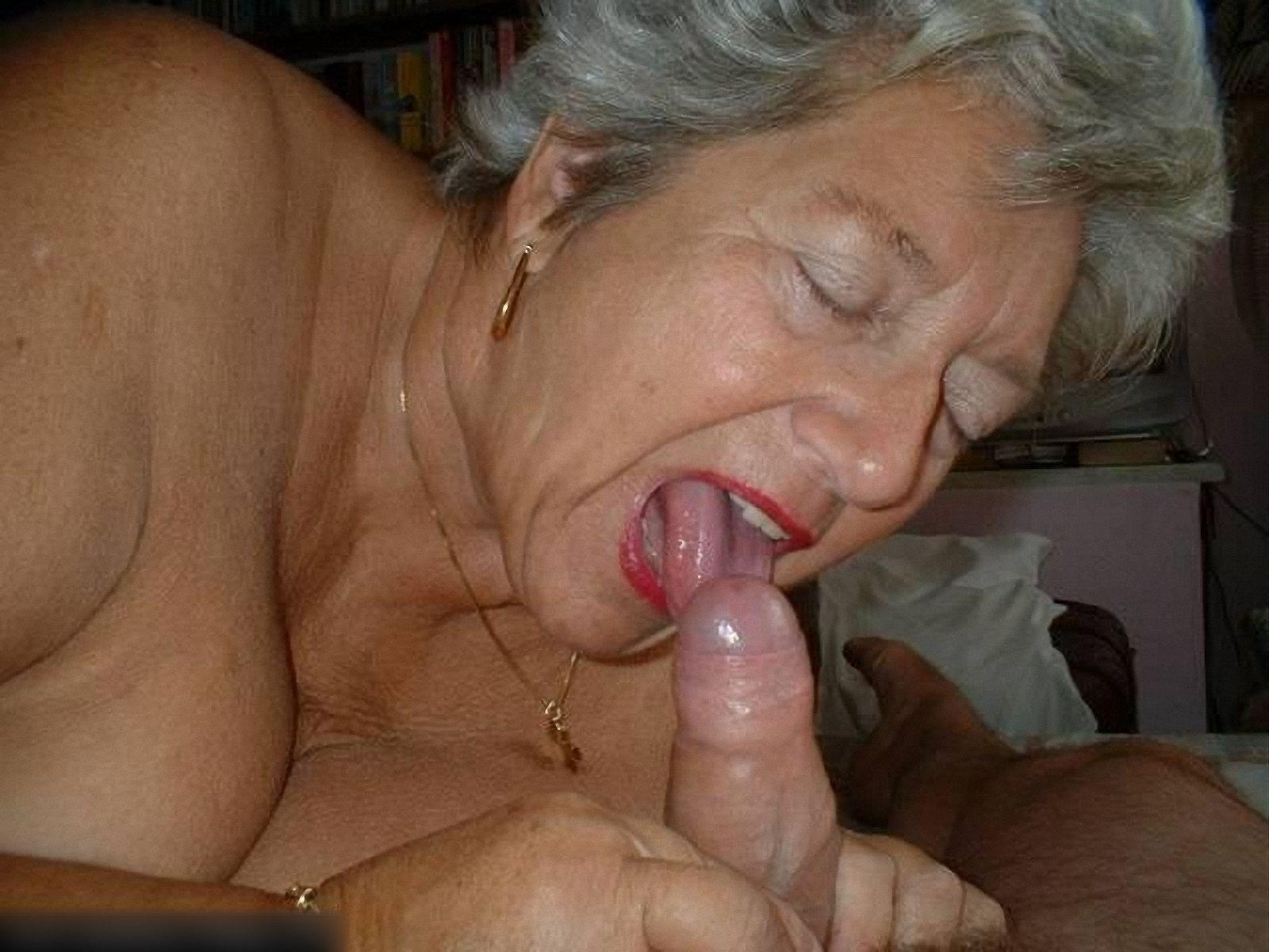Old Asian Grandma Giving Blowjob
