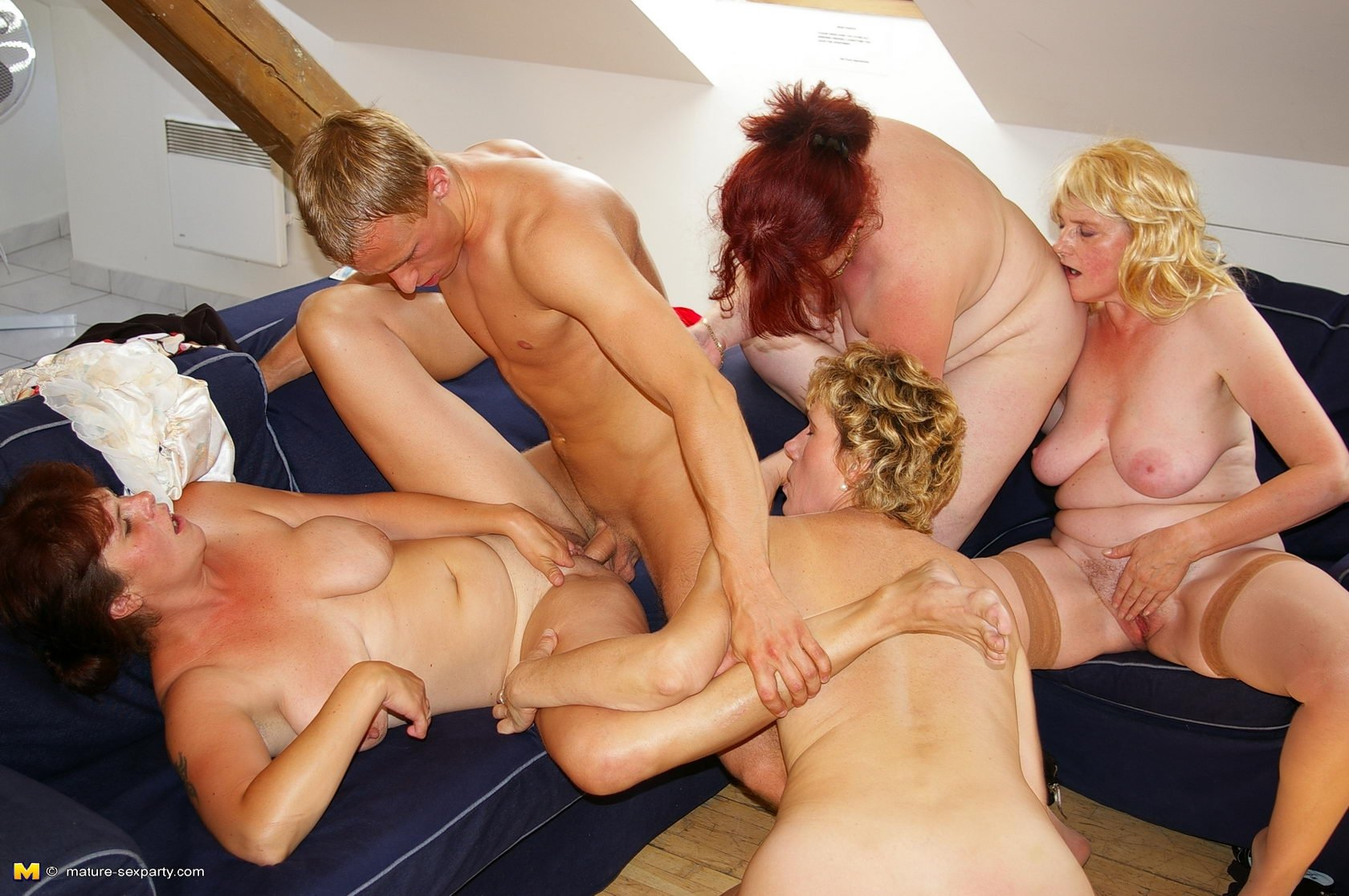 Big tits anal orgy party