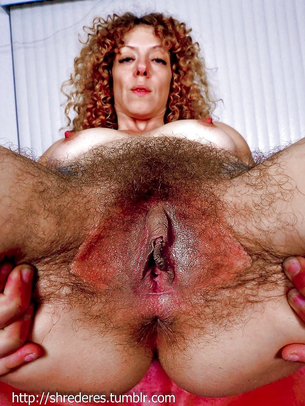 Nasty hairy cunt of slavena is filled with lubricant in a dirty old pussy exam porn clip