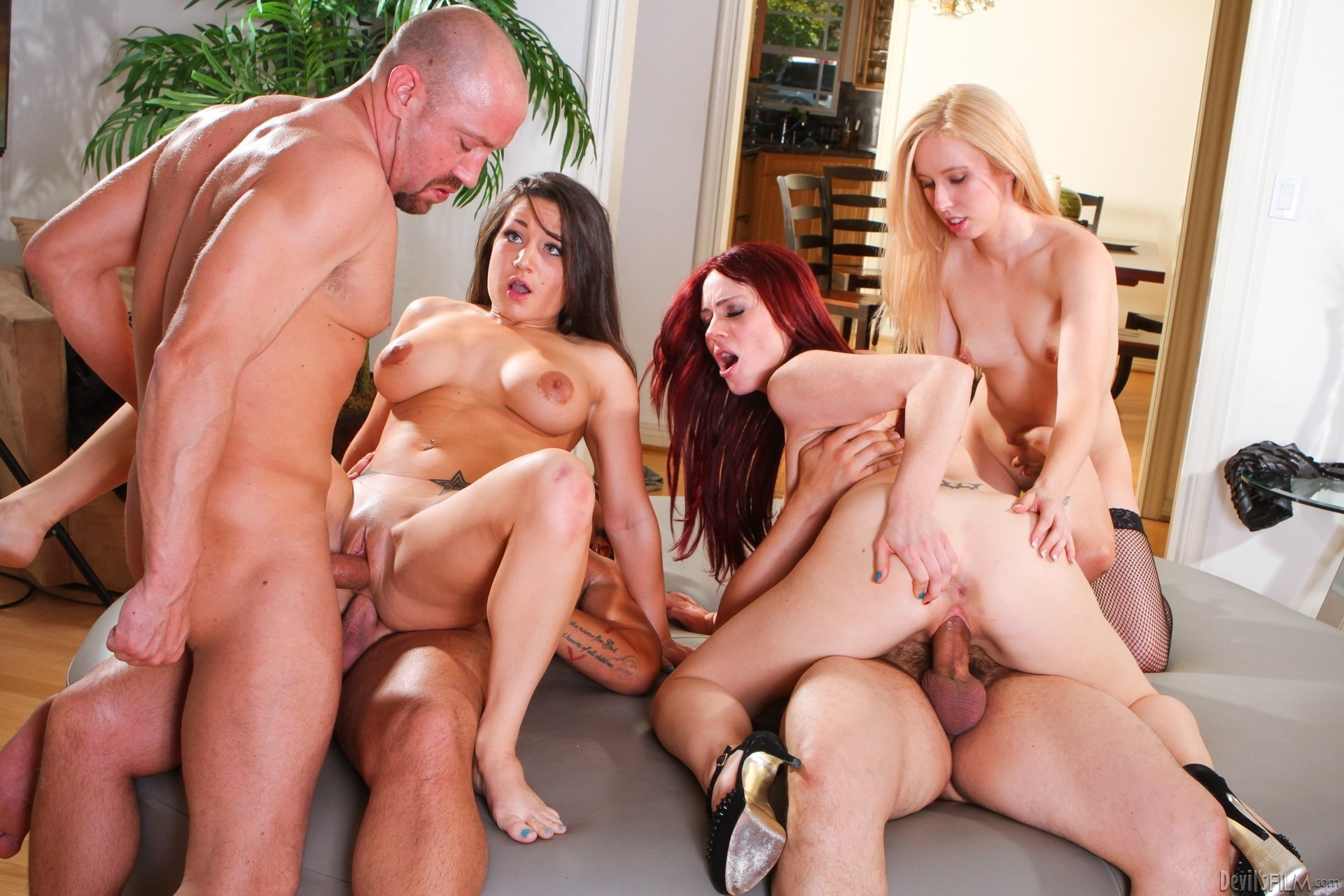 Giant group sex orgy fuckfest with tons of beautiful women