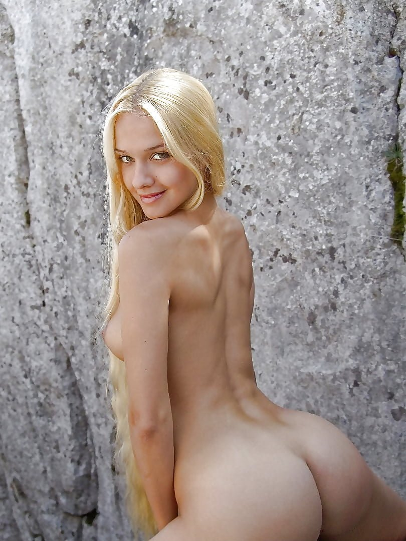 Long haired blonde nude