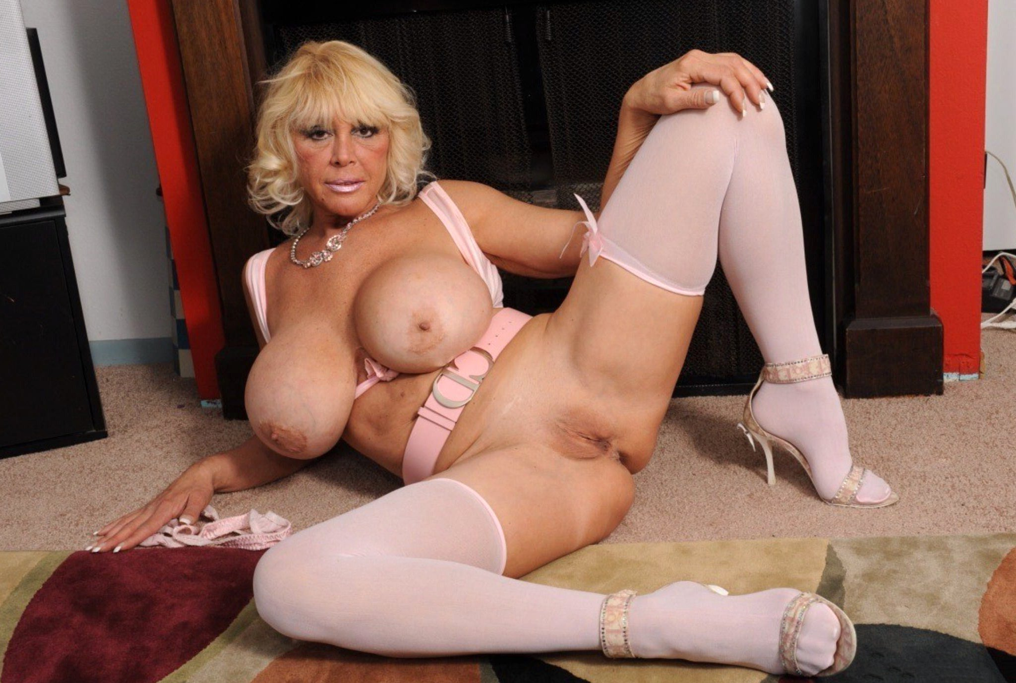 Mature blonde with big tits