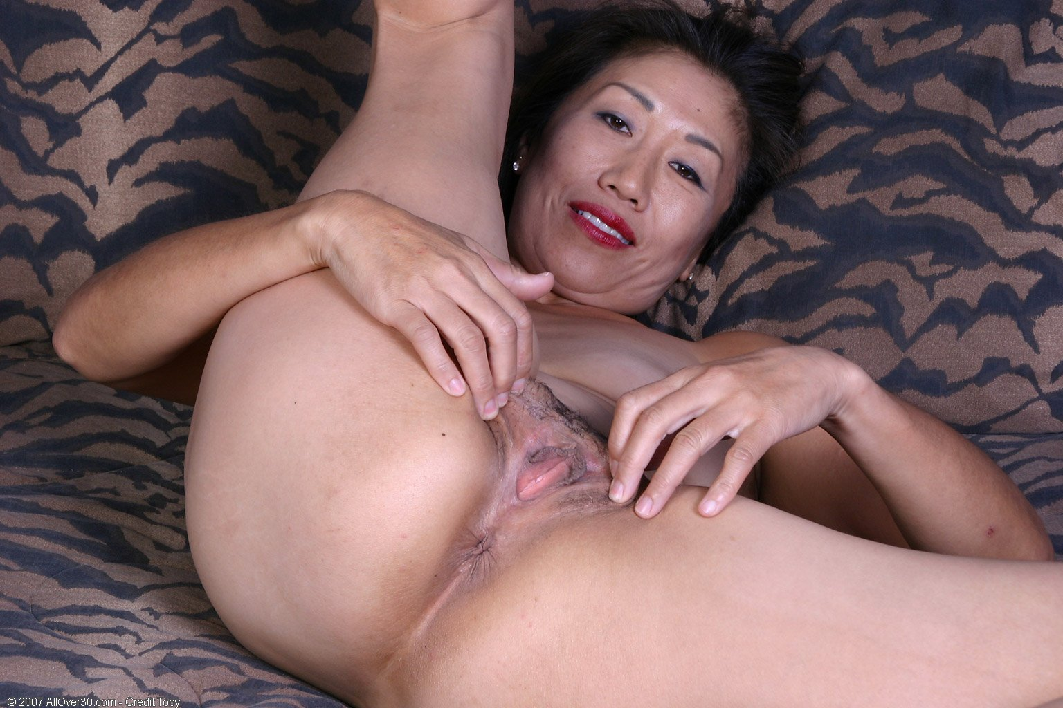 Lucky Starr Fucked Hard In Her Hairy Asian Milf Pussy