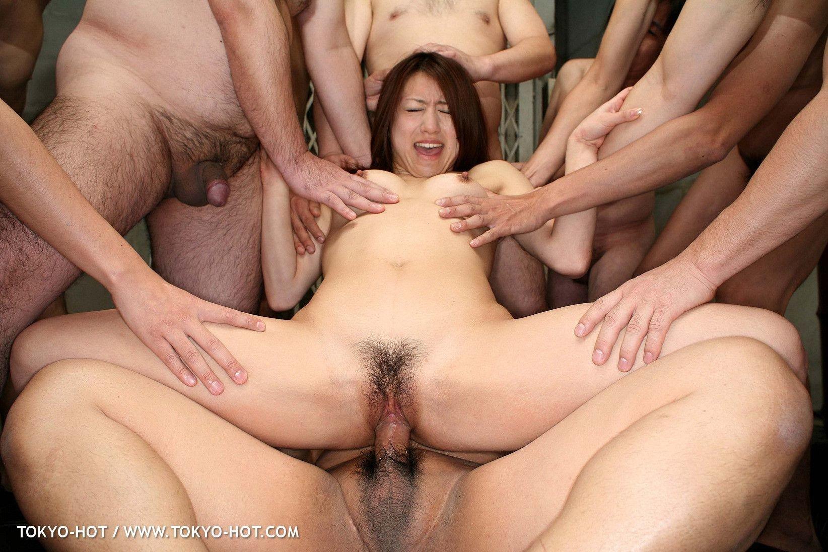 Japanese anal gangbang porn